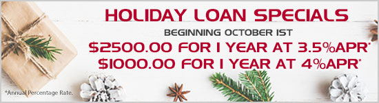 Holiday loan specials